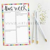 Weekly Planner Notepad: Rainbow Chevron {2 Pack}