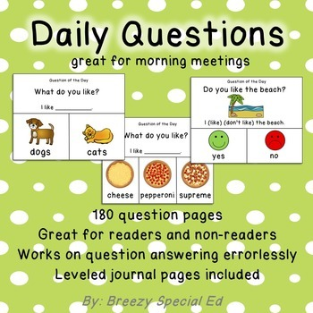 Daily Questions for the Year for Special Education