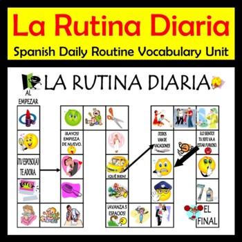 Daily Routine Spanish Vocab Activities & Games Unit (La Ru