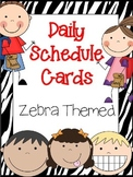 Daily Schedule Cards-Zebra Themed