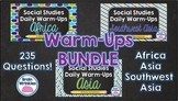 Daily Social Studies Warm-Ups BUNDLE -- Africa, Southwest