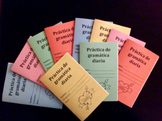 Daily Spanish Grammar Practice Workbooks (30 Classroom Set)