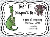 Dash to Dragon's Den - Comparing Fractional Parts Game