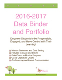 Data Binder and Portfolio Common Core Standards Pack Grade 4