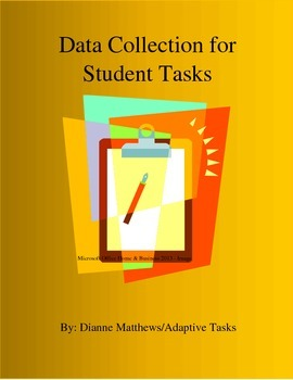 FREE Data Collection Sheet for Student Tasks
