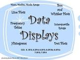 Data Displays:  Line Plots, Histograms, Box and Whisker Pl