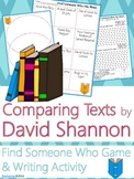 David Shannon Author Study {Comparison & Contrast Writing