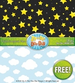 Day and Night Sky Digital Scrapbook Pack — FREE! (2 Pages)