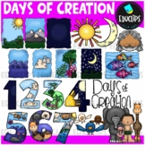 Days Of Creation Clip Art Bundle (Color and B&W)