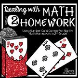 Dealing with Math Homework: 2nd Grade Math Card Games Unit
