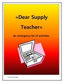 Dear Supply Teacher