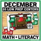 December Kindergarten Centers - Math and Literacy