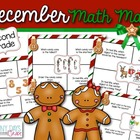 December Math Mats {second grade}