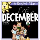 December Morning Bright {Kindergarten Math Morning Work}