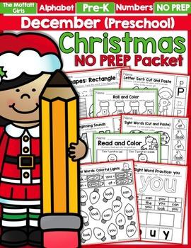 December NO PREP Packet (Preschool)