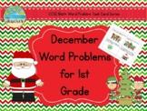 December Word Problems for 1st Grade (TASK CARDS)