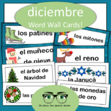 December Word Wall Cards: Spanish