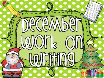 December Work On Writing Packet