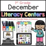 December literacy center menu