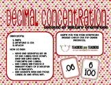 Decimal Concentration Game