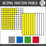 Decimal Fraction Model Clipart {Tenths & Hundredths}