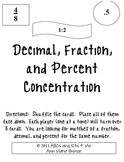 Decimal, Fraction, and Percent Concentration