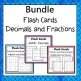Decimal  Flash Cards or Task Cards Bundle