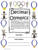 Free Downloads: Decimal Olympics Math Games and Activities