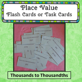 Place Value Flash Cards or Task Cards