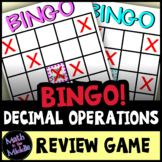 Decimal Review Bingo Game