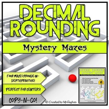 Decimal Rounding Mystery Mazes Set 1