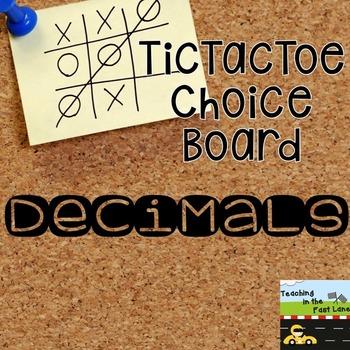 Decimal TicTacToe Extension Activities