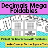 Decimals Mega Foldables Pack for Interactive Math Notebook