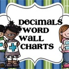 Decimals Word Wall Charts