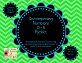 Decomposing Numbers 0-5 Packet