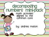 Decomposing Numbers Mini Pack