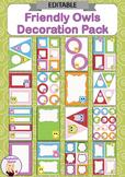 Editable Decoration Pack - Friendly Owls