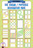 Editable Decoration Pack - Ice Cream / Popsicle