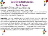 Deleting Initial Sound Card Game (Phonemic Awareness-TPRI)