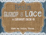 Denim, Burlap, and Lace Classroom Decor Kit