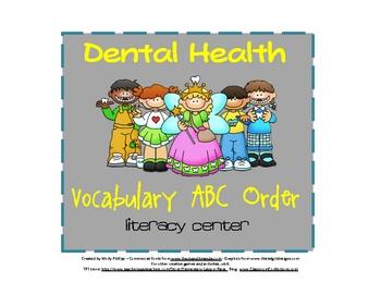 ABC Order {Dental Heath Theme}