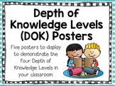 Depth of Knowledge (DOK) Levels Posters- Common Core Alignment