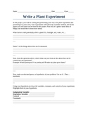 Design Your Own Plant Experiment