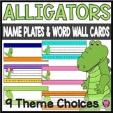 ALLIGATOR THEME /NAMEPLATES/DESKPLATES/VOCABULARY CARDS