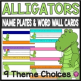 ALLIGATOR THEME /NAMEPLATES/DESKPLATES/VOCABULARY CARDS