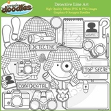 Detective Line Art