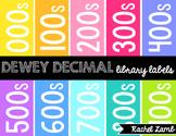 Dewey Decimal Library Labels