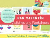 Dia de San Valentín & Dia de los Amigos Spanish Lesson - V