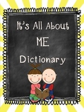 Dictionary All About Me Book