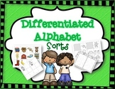 Differentiated Letter Sorts:  B T & F
